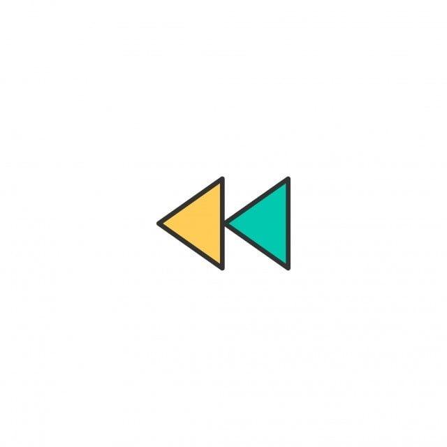 Logo Rewind Symbol Icon Sign Button Design Web Arrow Video Vector Illustration Digital Media Internet Play Control Icon Design Vector Design Design Essentials