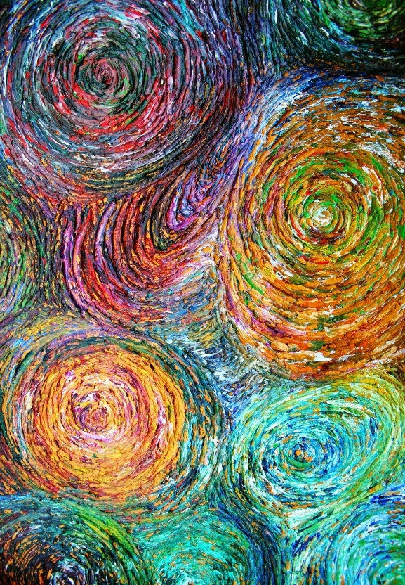 Swirls! Would make great wall art or even inspiration for a great, funky rug.