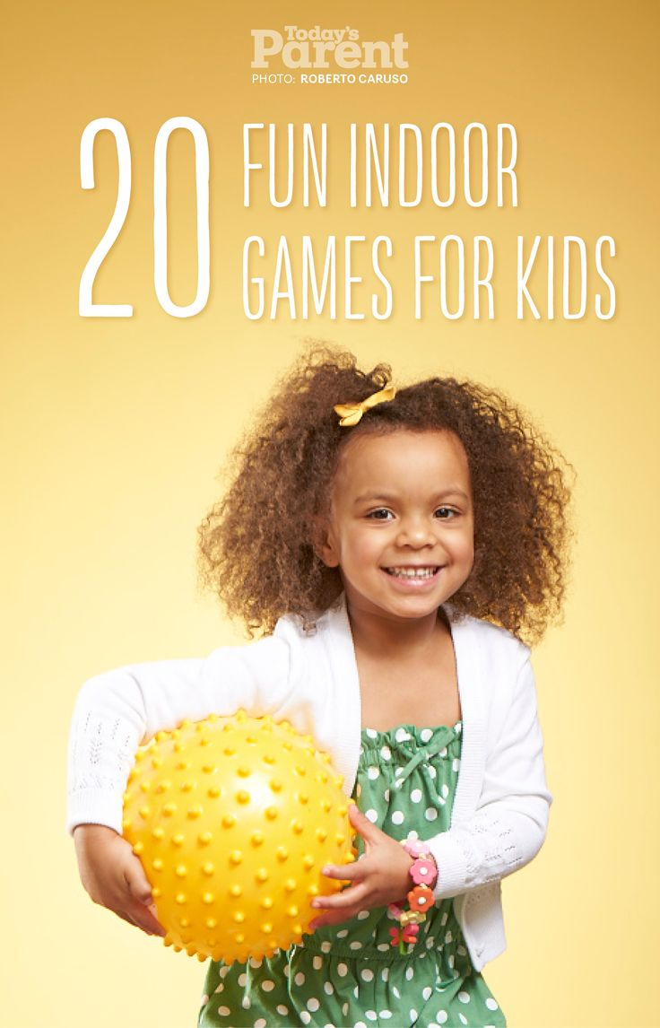 Here are 20 indoor games that will keep kids (and you) happy and active—no TV or video games required.