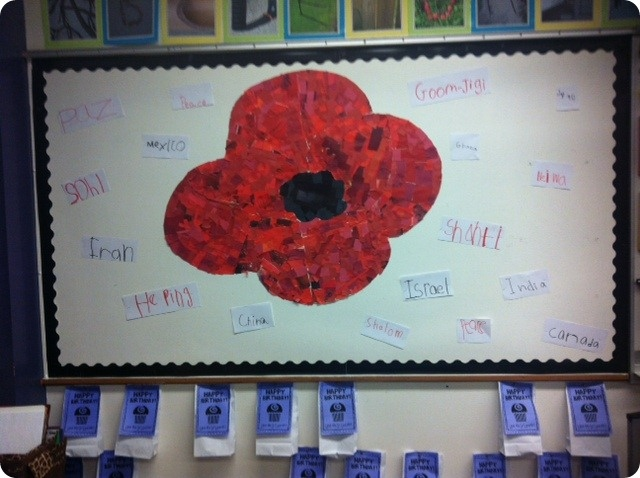 Remembrance Day Collage Poppy Art