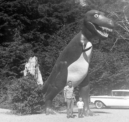 God, do I remember visiting Prehistoric Gardens in Gold Beach, Oregon.! Wonder if it's still there....
