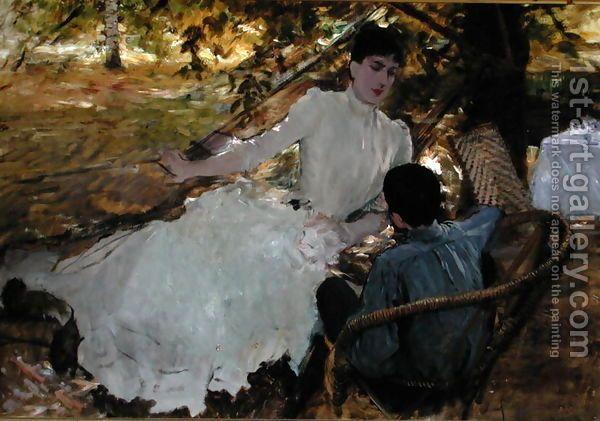 Giuseppe de Nittis - In the hammock, 1884