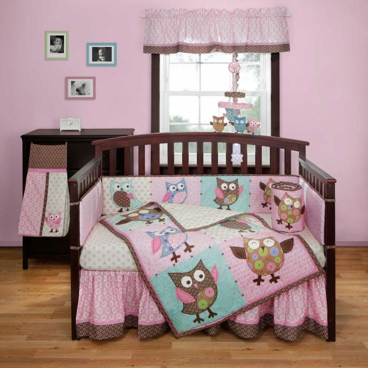 bananafish calico owls crib bedding and decor owl 87340