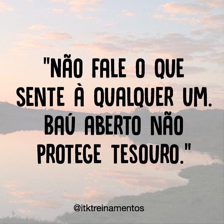 """3,510 curtidas, 13 comentários - ByNina (Carolina Carvalho) (@instabynina) no Instagram: """"Confiança é pra poucos. #regram @itktreinamentos #frases #itktreinamentos #confiança"""""""