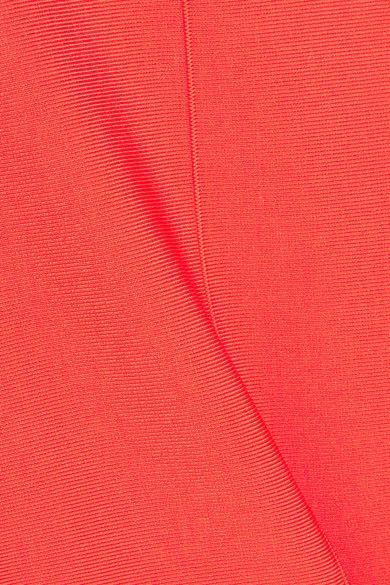 Victoria, Victoria Beckham - Open-back Ribbed Stretch-jersey Dress - Orange - UK12