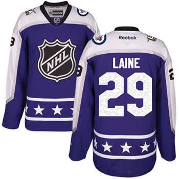 Men's Winnipeg Jets #29 Patrik Laine Purple 2017 All-Star Central Division Stitched NHL Jersey