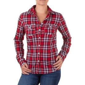 Chemise manches longues rouge et blanche - Aéropostale @ my-store.ch