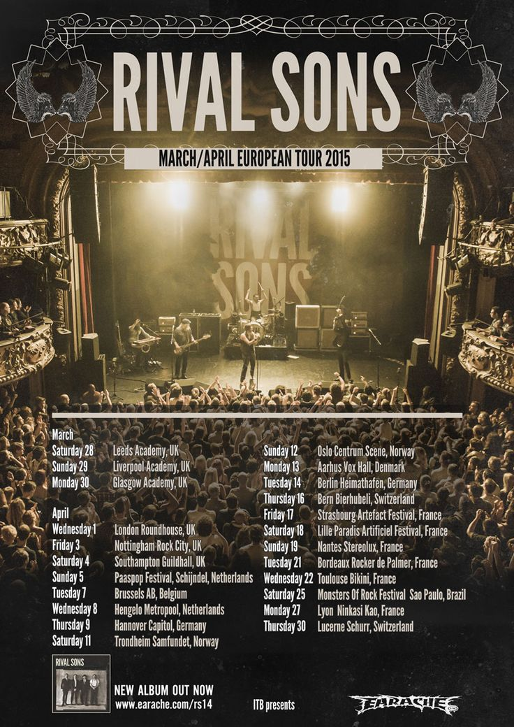 RIVAL SONS ANNOUNCES NEW TOUR-DATES FOR 2015