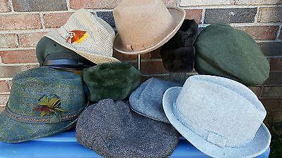 Vintage Mens Hats Lot Theater Plays Restoration Photo Studio Props Movie Derby