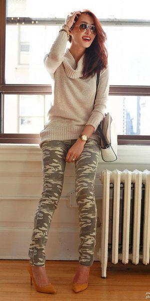 cc8e4a156884e Olive green leggings | Redhead Outfits | Camo pants outfit, Camo outfits, Camo  jeans