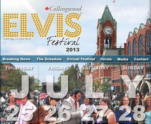 Elvis Festival Summer 2013 Collingwood, Ontario