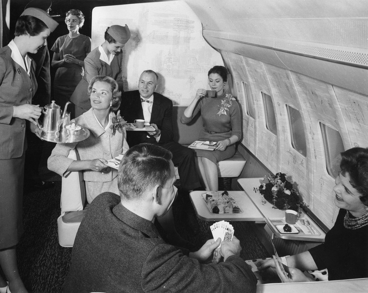 Boeing 707 First Class Lounge Travel Travelling