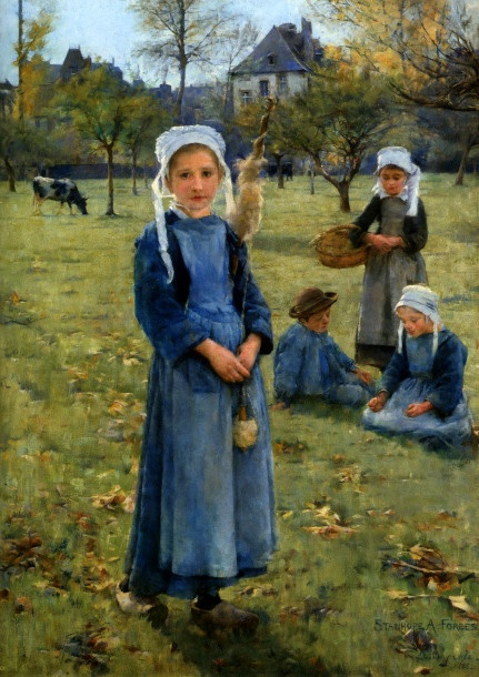 The Orchard, Stanhope Alexander Forbes (1857 – 1947, Irish)