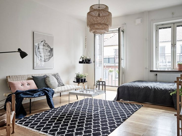 Woon je in een studio? Haal je inspiratie uit dit appartementje in Göteborg - Roomed