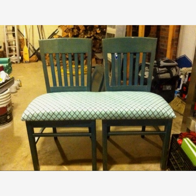 Two Chairs Repurposed Into A Bench Diy Pinterest