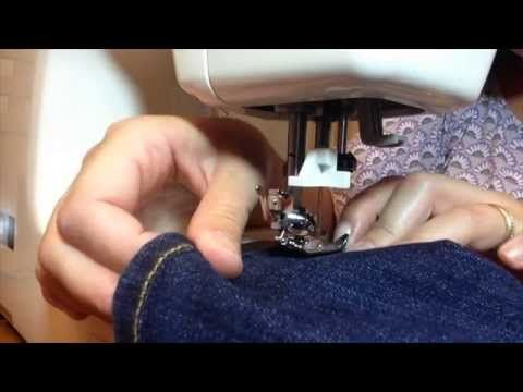 Como fazer barra de calça jeans - Barra original - How to hem your Jeans - YouTube