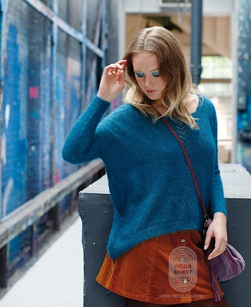 """Люди вяжут: Вяжем: Пуловер. """"Carnation"""" с подробной инструкцией на сайте peopleknit.ru."""