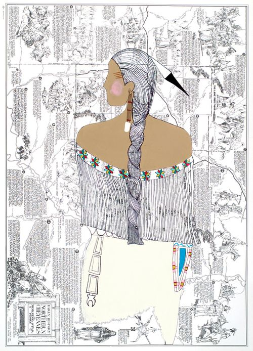 1205 best indian life images on pinterest native americans native ledger art by alaina buffalo spirit northern cheyenne awesome take on old school ledger art fandeluxe Gallery