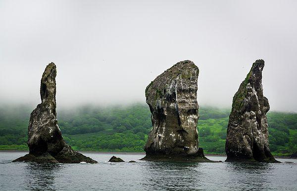 Rocks Three Brothers Photograph by Nadezhda Tikhaia   #NadezhdaTikhaiaFineArtPhotography #ArtForHome #HomeDecor #Nature #Landscapes #InteriorDesign #FineArtPrints