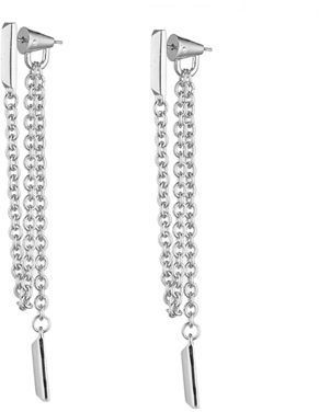 Eddie Borgo Draped Chain Bar Earrings