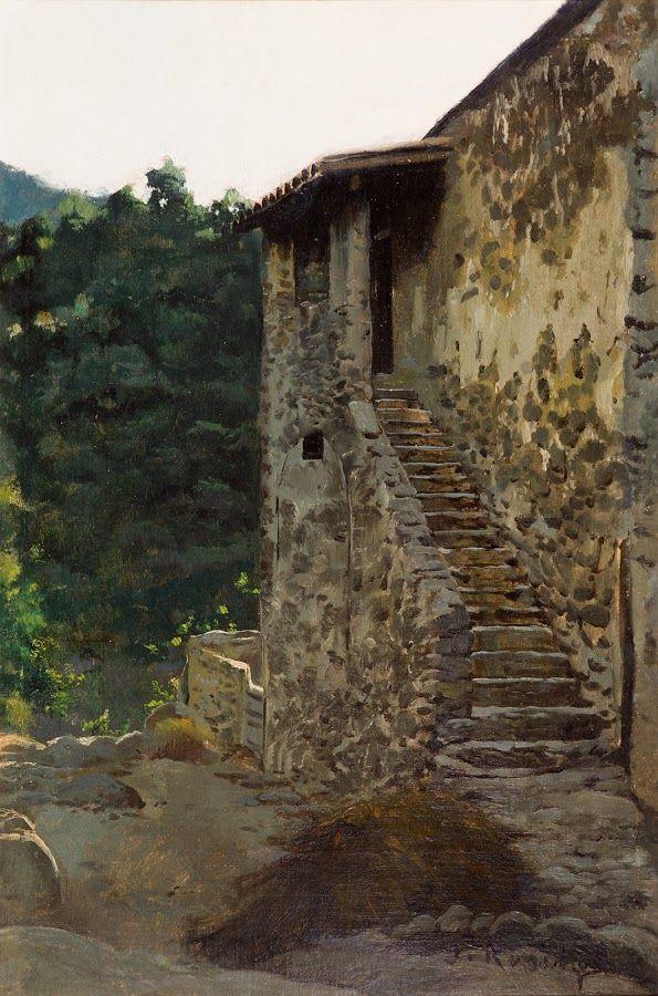 La escalera - Santiago Rusiñol