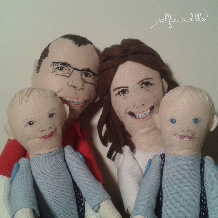 personalised handmade fabric dolls, family dolls, portrait dolls, embroidery