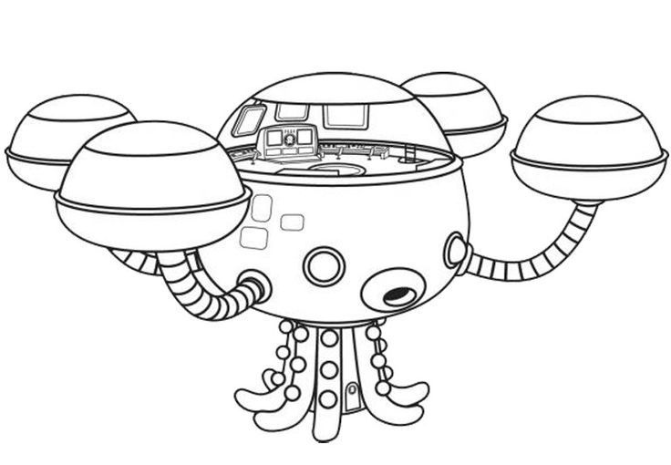 Octonauts Octopod Coloring Page Cartoon Coloring Pages