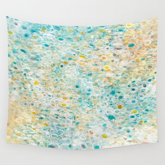 Ocean abstract wall tapestry by Jessica Torrant