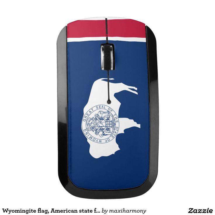 Wyomingite flag, American state flag Wireless Mouse