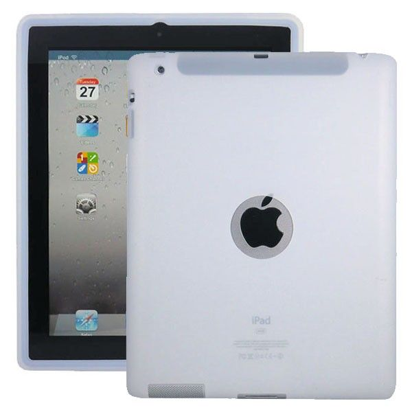 Soft Shell Logo (Hvit) Deksel for iPad 3
