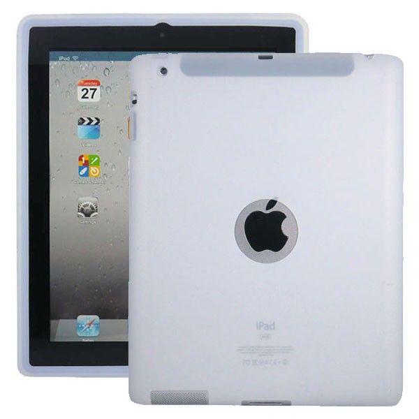 Soft Shell Logo (Hvit) Deksel for iPad 3