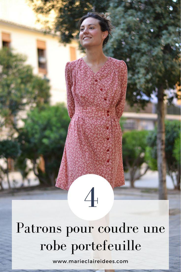 4 patrons pour coudre une robe portefeuille / patron de couture robe