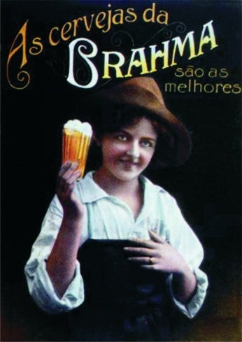 Propaganda antiga da cerveja Brahma.