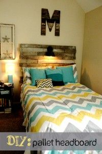 I love the turquoise in this yellow & grey comforter...Our room is yellow and grey and to accent in this turquoise would make our room just pop!!