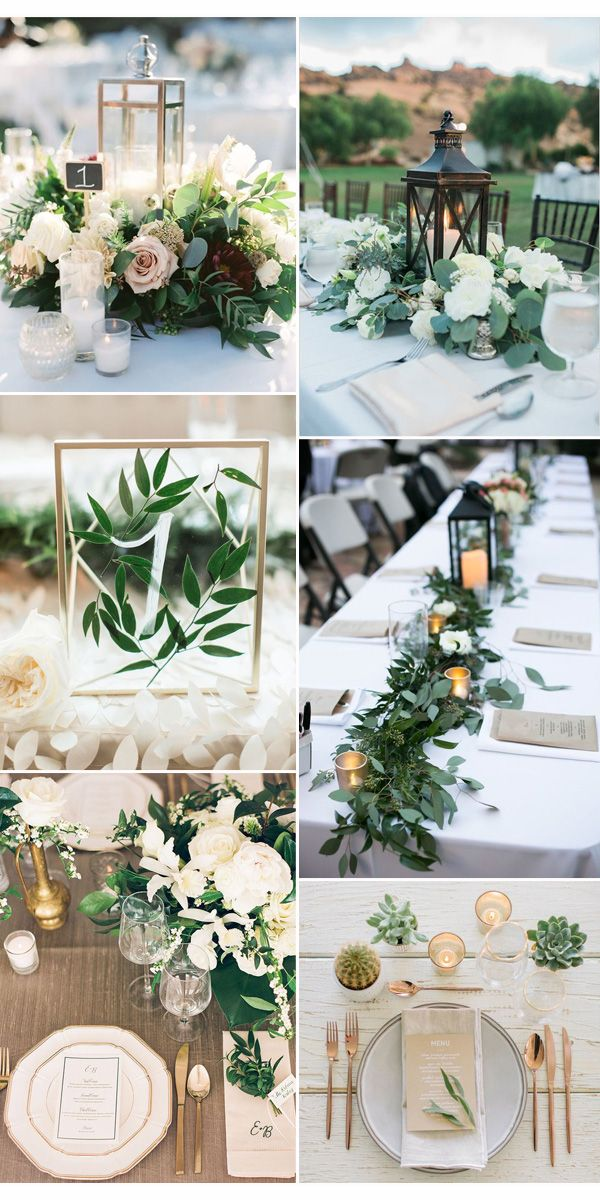 25 best ideas about greenery centerpiece on pinterest for Center arrangements for weddings