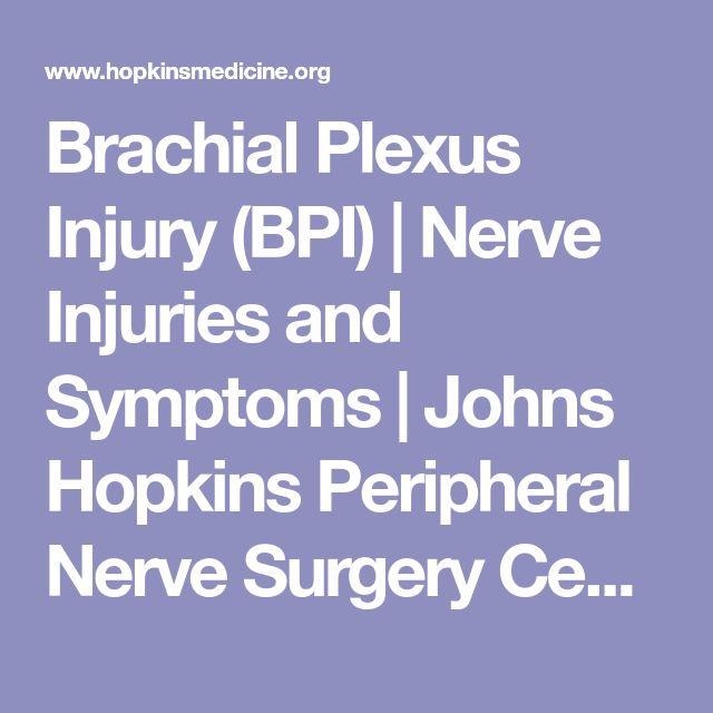 Brachial Plexus Injury (BPI) | Nerve Injuries and Symptoms | Johns Hopkins Peripheral Nerve Surgery Center