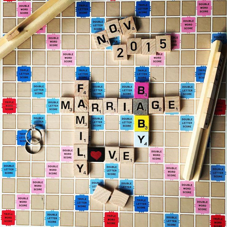 110 best Announcing Pregnancy Ideas images – Scrabble Baby Announcement