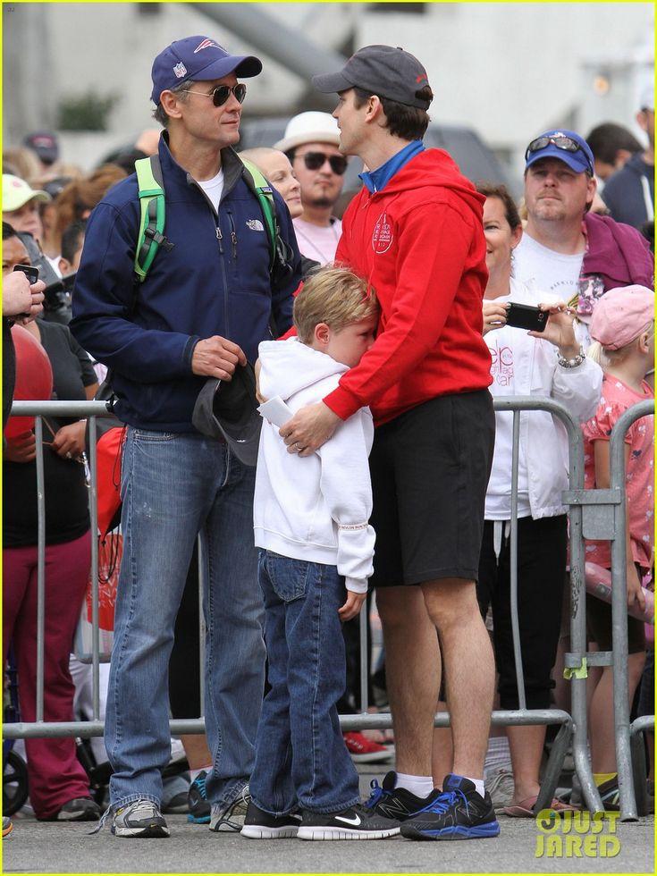 Matt Bomer, his partner Simon Halls and son Kit at the 19th Annual Revlon Run/Walk for Women fundraiser on Saturday (May 12) in Los Angeles.