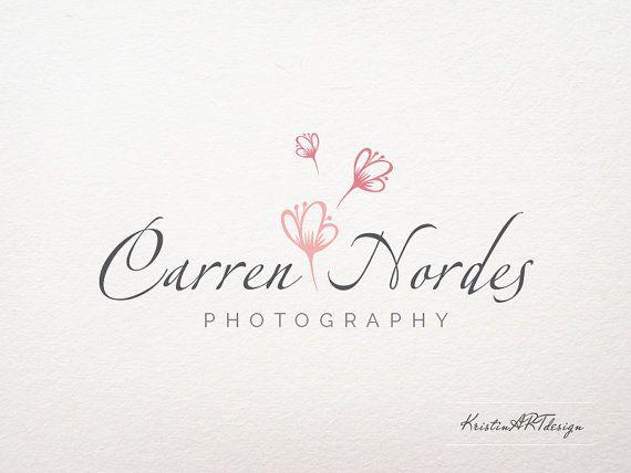 Flower Photography Logo  Flower logo   by KristinARTdesign on Etsy