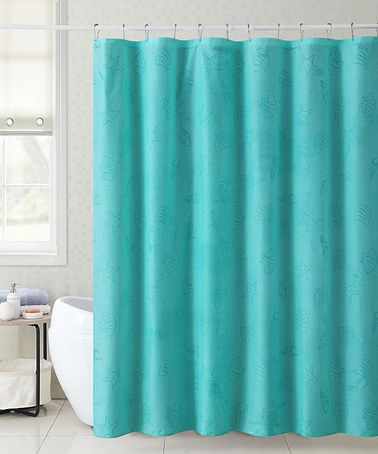 Teal Mystic Locale Cities 13 Piece Shower Curtain