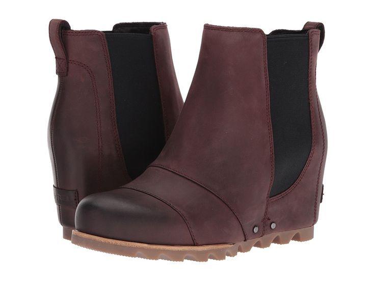 1e0fe0491ae5 SOREL - Lea Wedge (Redwood Black) Women s Waterproof Boots  hiddenwedges   hiddenwedge  boots  waterproofboots