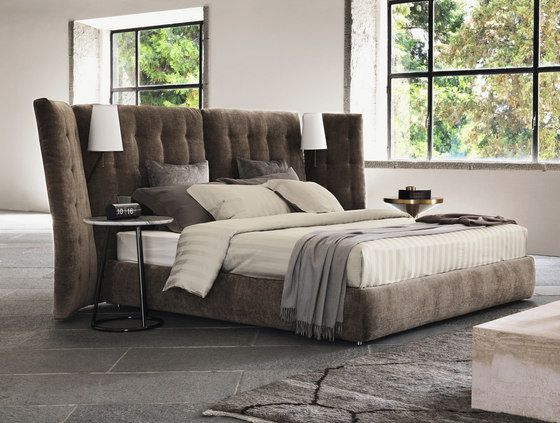 Angle Quilted headboard by Flou | Double beds