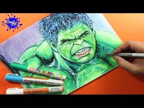 Como dibujar a  hulk l  how to draw Hulk l  Avengers YouTube