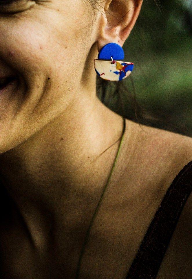 polymeric clay earrings https://www.facebook.com/planww/