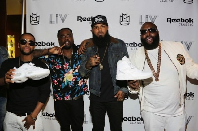 Rick Ross, Wale, Stalley, Meek Mill at white event of Reebok Classics