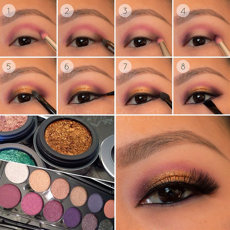 Copper and Cranberry tutorial with Sleek Vintage Romance and Stila Comex Gold MMFF - Imgur