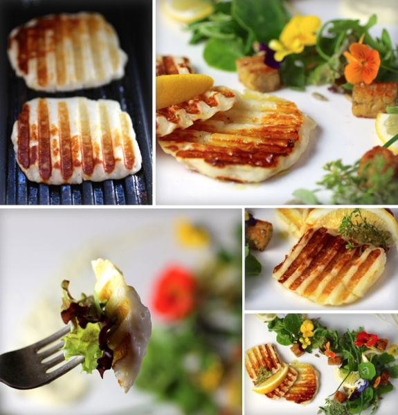 How to Grill Halloumi – a semi-hard, brined goat/sheep milk cheese originally from the island of Cyprus, with a high melting point that makes it perfect for grilling. #GrilledCheese #ComfortFoodFeast