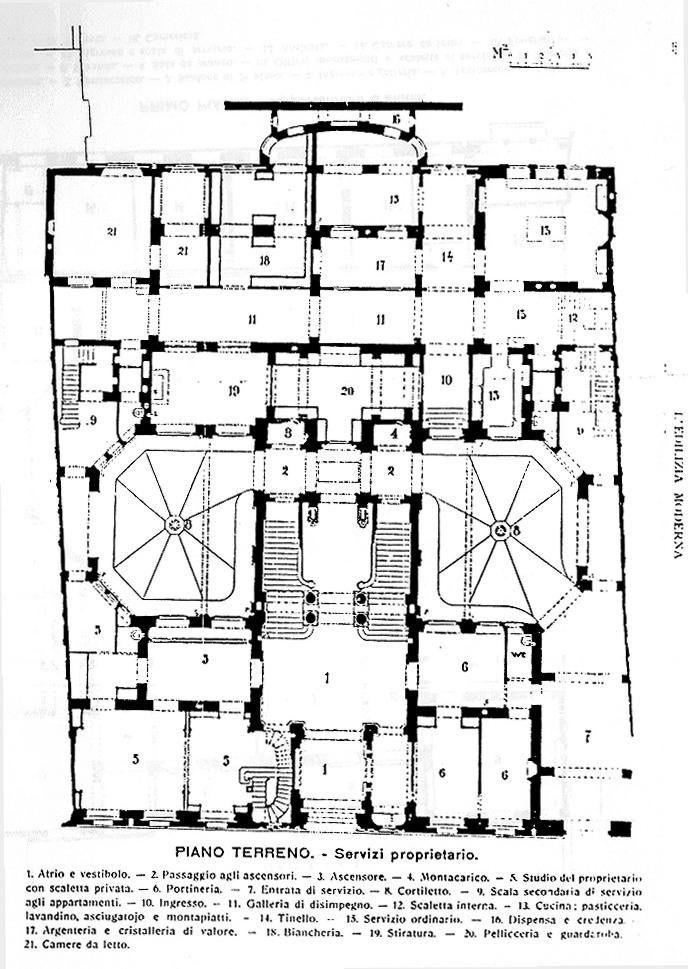 https://flic.kr/p/8Y2tAX   Corso Venezia, Palazzo Castiglioni, piantina