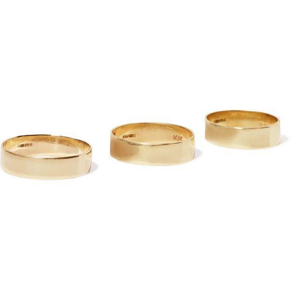 8b4e4db26d3 Loren Stewart Set of three 10-karat gold rings ( 530) ❤ liked on ...