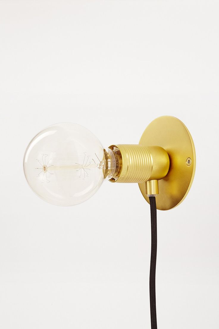 Frama E27 wandlampje goud